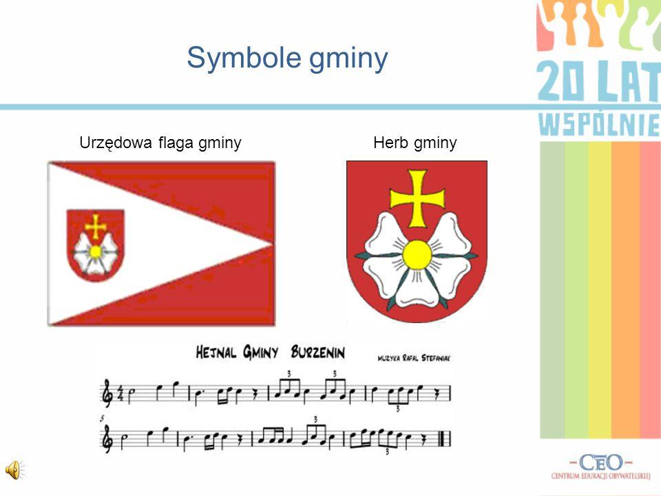 Symbole gminy Urzędowa flaga gminyHerb gminy