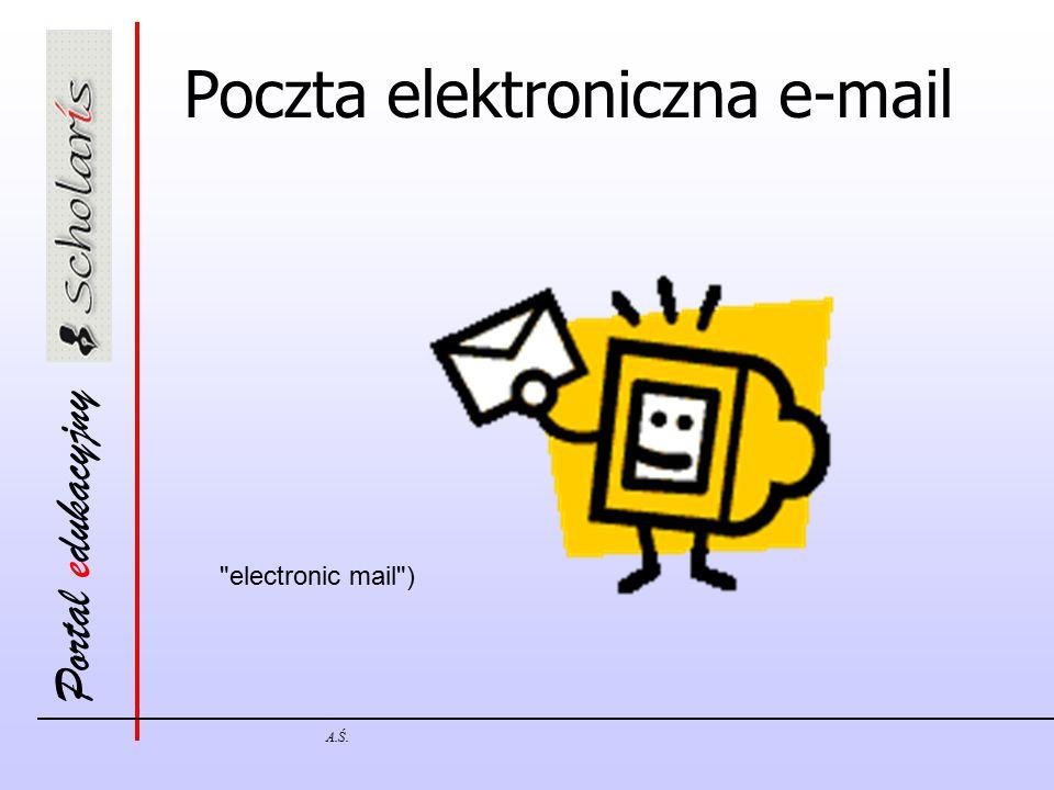 Portal edukacyjny A.Ś. Poczta elektroniczna e-mail