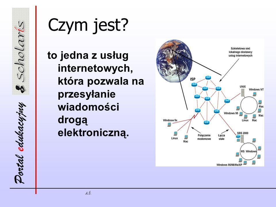 Portal edukacyjny A.Ś. Czym jest? to jedna z usług internetowych, która pozwala na przesyłanie wiadomości drogą elektroniczną.