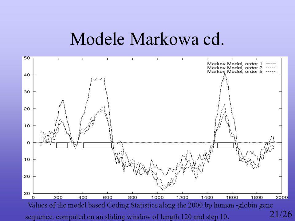 Modele Markowa cd.