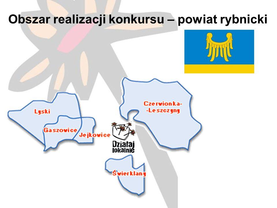 Obszar realizacji konkursu – powiat rybnicki