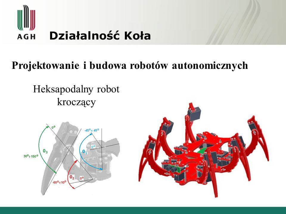 Działalność Koła Projektowanie i budowa robotów autonomicznych Heksapodalny robot kroczący