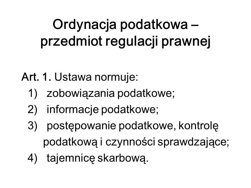 Ordynacja podatkowa - zastosowanie Art.2. § 1.