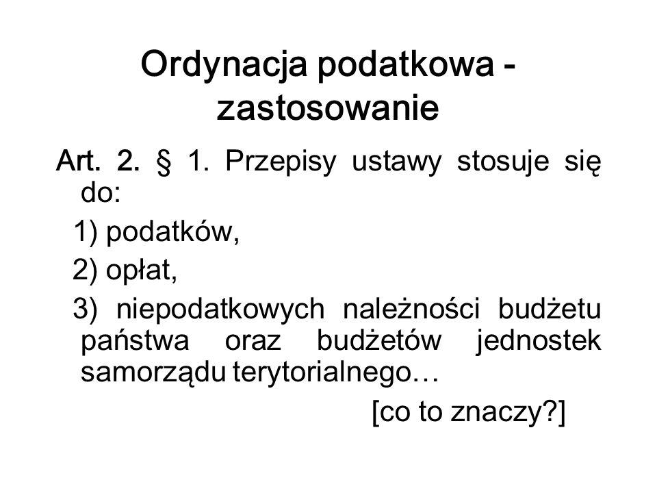 Zaległość podatkowa (art.51 o.p.) Art. 51. § 1.