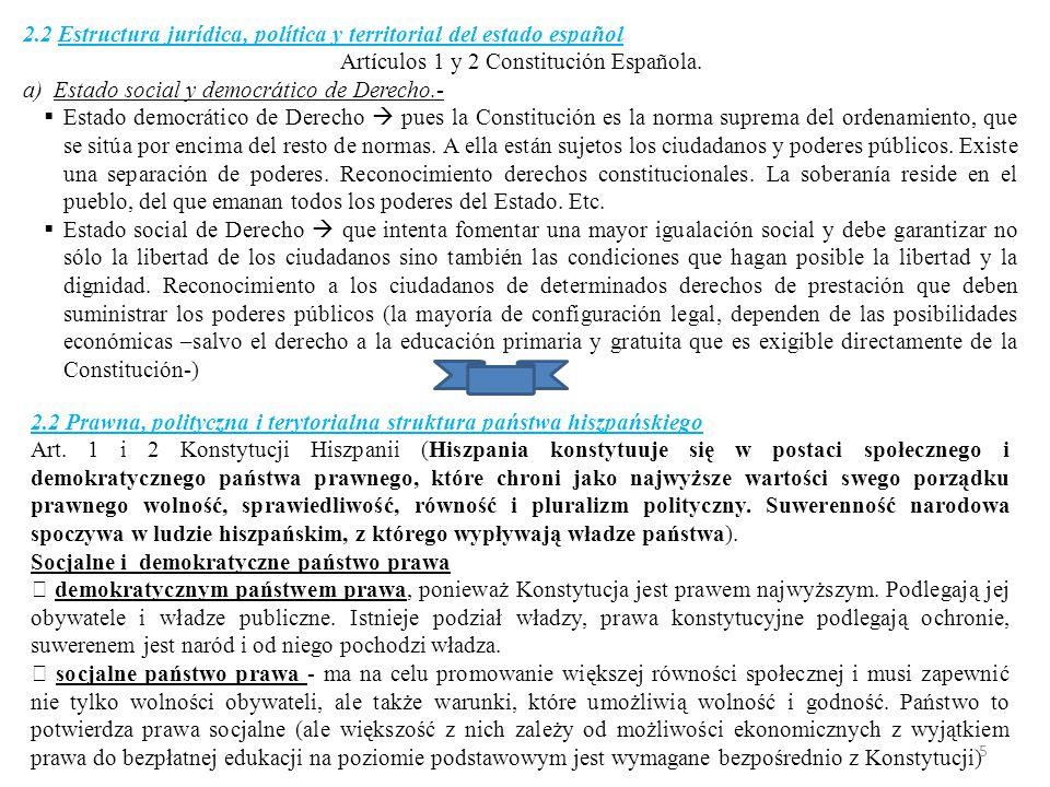 b)La Monarquía parlamentaria.-  Art.1.3 Constitución.
