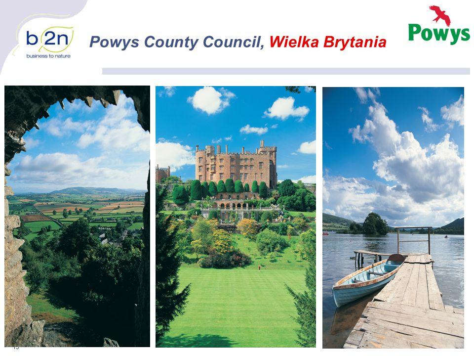 13 Powys County Council, Wielka Brytania