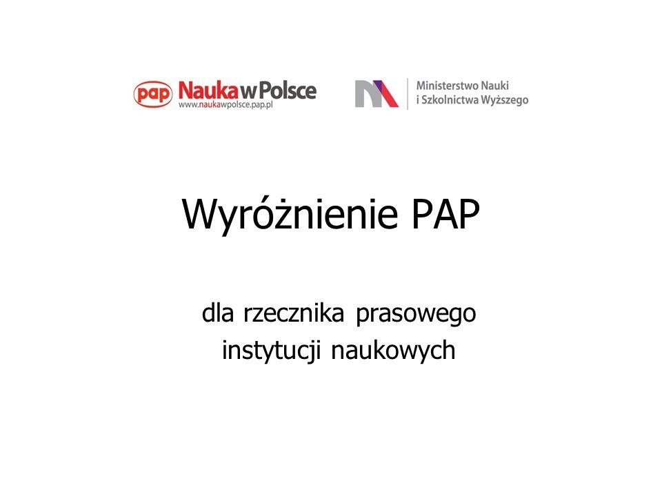 Wyróżnienie PAP dla rzecznika prasowego instytucji naukowych