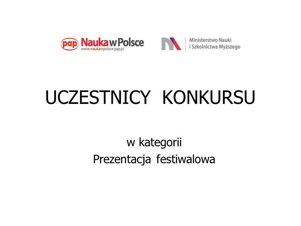UCZESTNICY KONKURSU w kategorii Prezentacja festiwalowa
