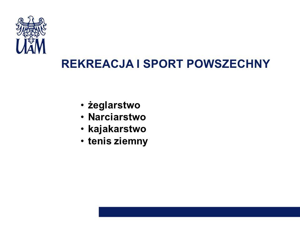 REKREACJA I SPORT POWSZECHNY żeglarstwo Narciarstwo kajakarstwo tenis ziemny