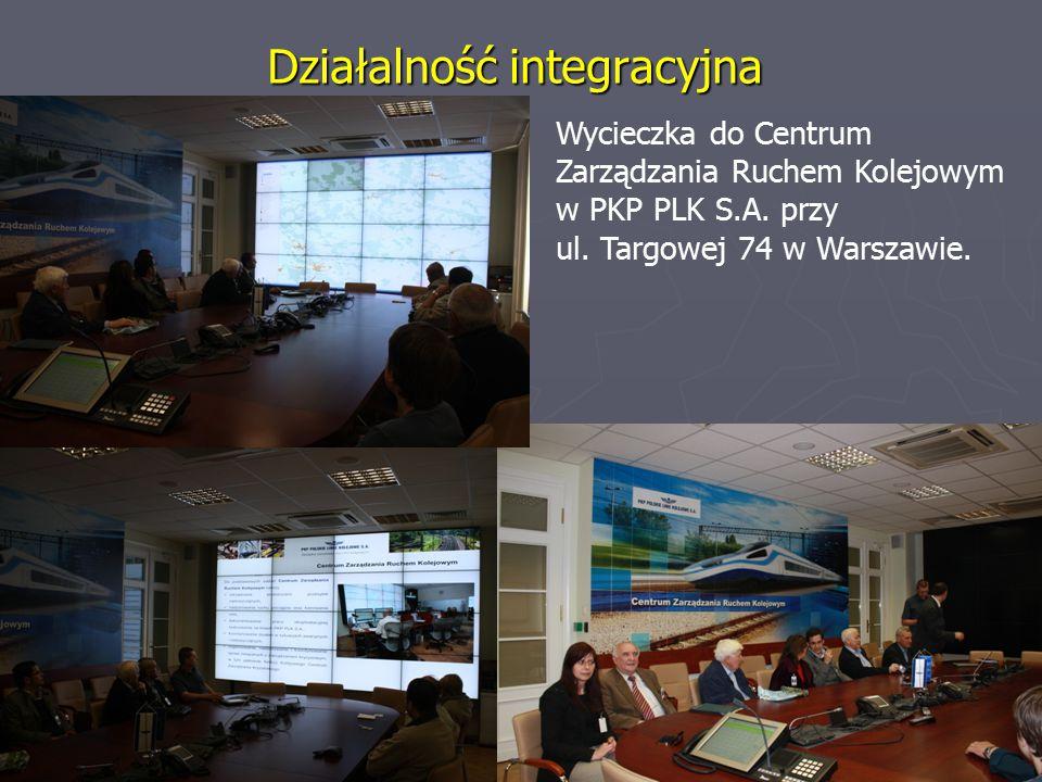 Działalność integracyjna Wycieczka do Centrum Zarządzania Ruchem Kolejowym w PKP PLK S.A.