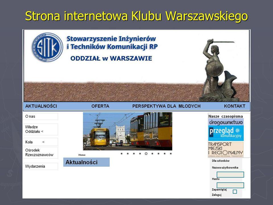 Strona internetowa Klubu Warszawskiego