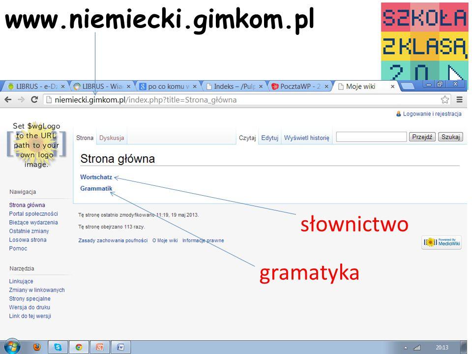 www.niemiecki.gimkom.pl4 słownictwo gramatyka