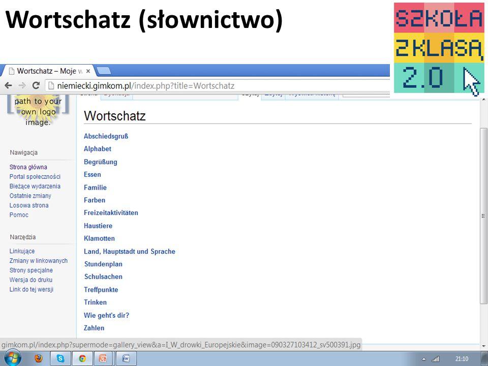 www.niemiecki.gimkom.pl6 Wortschatz (słownictwo)