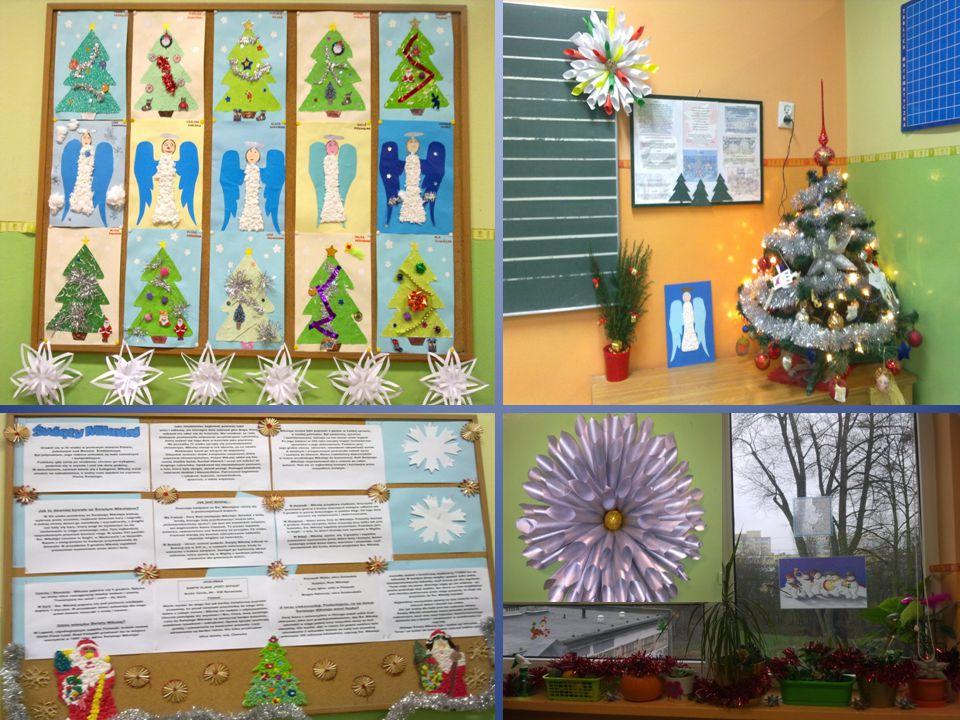 Nasze przygotowania do świąt Bożego Narodzenia rozpoczęliśmy od przygotowania dekoracji w klasie, ubrania choinek.