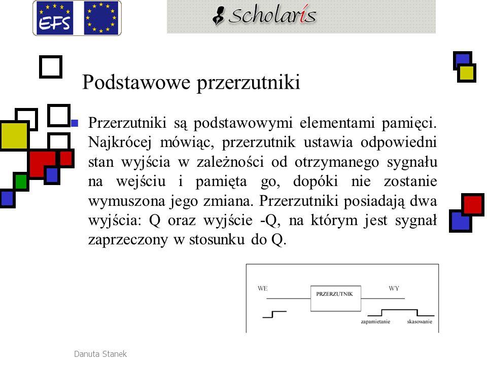 Danuta Stanek Przerzutnik monostabilny i bistabilny: Przerzutnik zapamiętuje zmianę stanu logicznego wejścia.