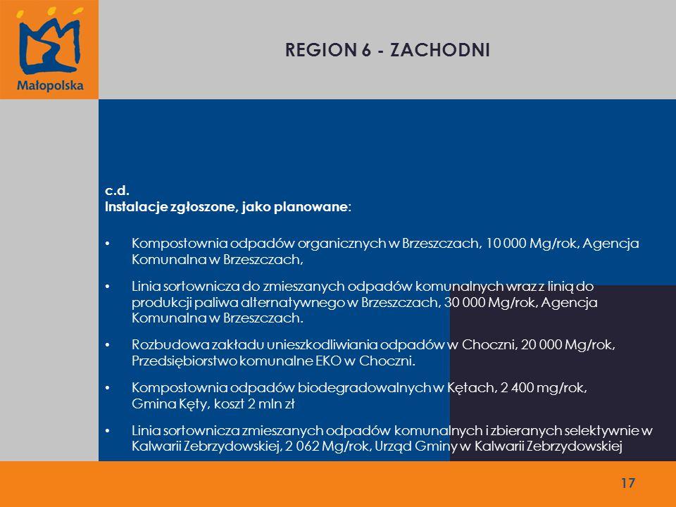 REGION 6 - ZACHODNI c.d.