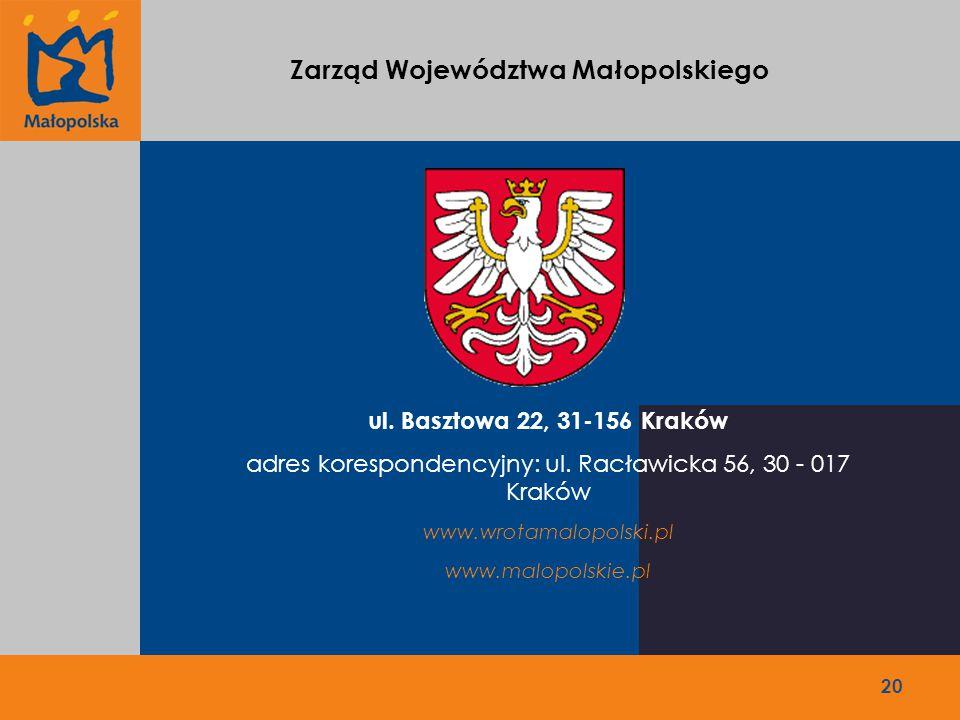 20 ul. Basztowa 22, 31-156 Kraków adres korespondencyjny: ul.