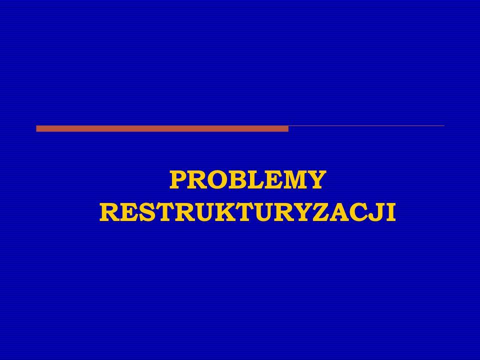 PROBLEMY RESTRUKTURYZACJI