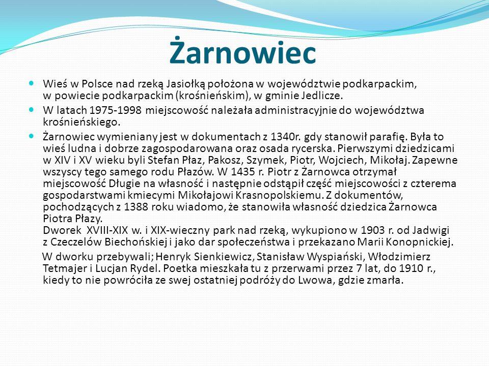 Żarnowiec Wieś w Polsce nad rzeką Jasiołką położona w województwie podkarpackim, w powiecie podkarpackim (krośnieńskim), w gminie Jedlicze. W latach 1