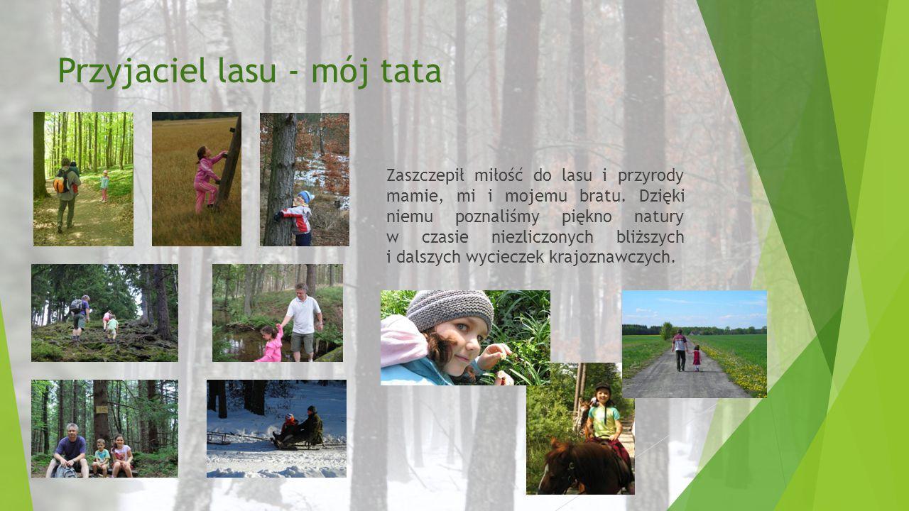 Przyjaciel lasu - mój tata Zaszczepił miłość do lasu i przyrody mamie, mi i mojemu bratu. Dzięki niemu poznaliśmy piękno natury w czasie niezliczonych