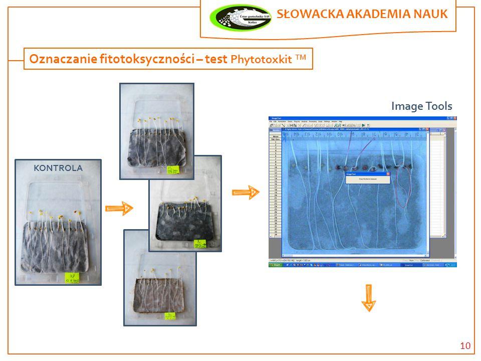 10 SŁOWACKA AKADEMIA NAUK. Oznaczanie fitotoksyczności – test Phytotoxkit TM KONTROLA Image Tools