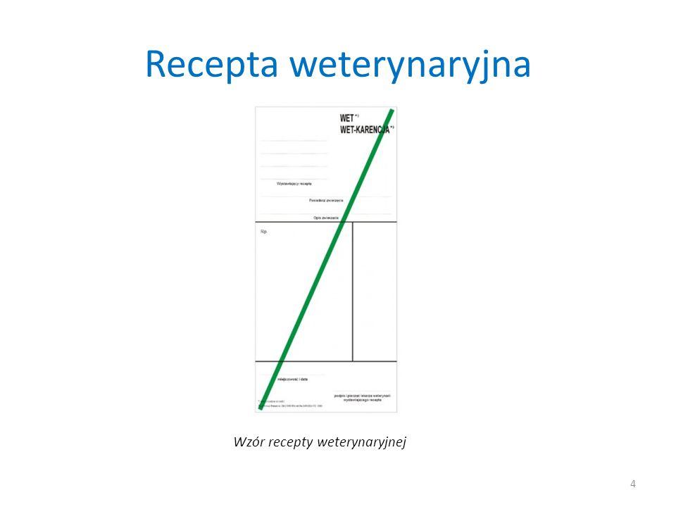 Recepta weterynaryjna 4 Wzór recepty weterynaryjnej