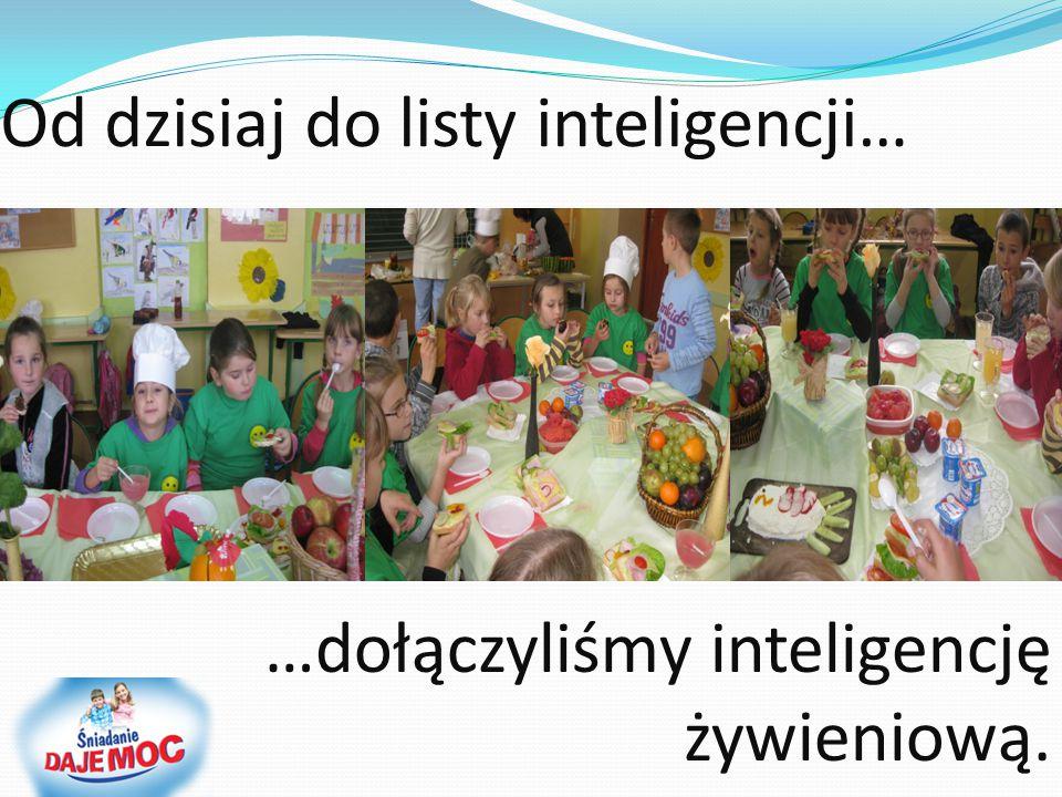Od dzisiaj do listy inteligencji… …dołączyliśmy inteligencję żywieniową.