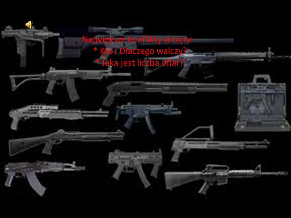 Największe konflikty zbrojne * Kto i Dlaczego walczy? * Jaka jest liczba ofiar?