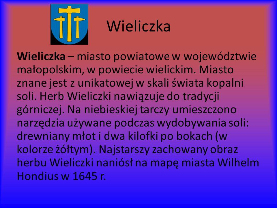 Wieliczka Wieliczka – miasto powiatowe w województwie małopolskim, w powiecie wielickim.