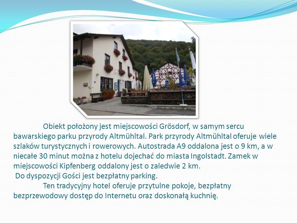 Obiekt położony jest miejscowości Grösdorf, w samym sercu bawarskiego parku przyrody Altmühltal.