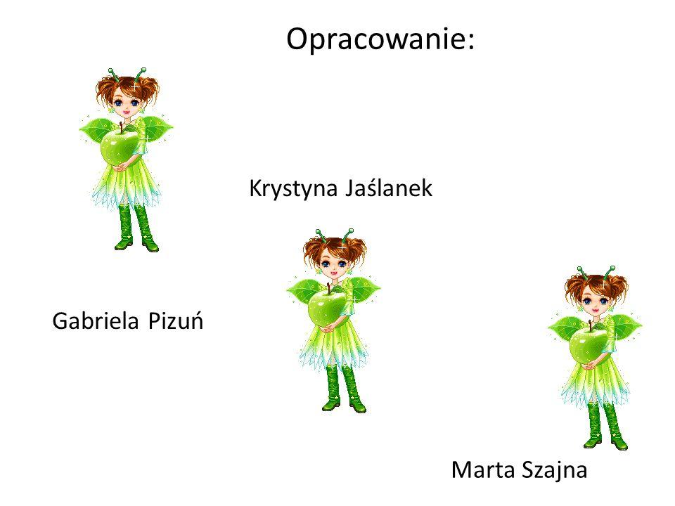 Opracowanie: Gabriela Pizuń Krystyna Jaślanek Marta Szajna