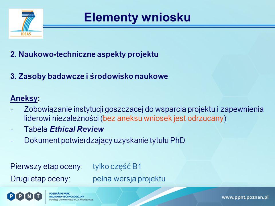 2. Naukowo-techniczne aspekty projektu 3.