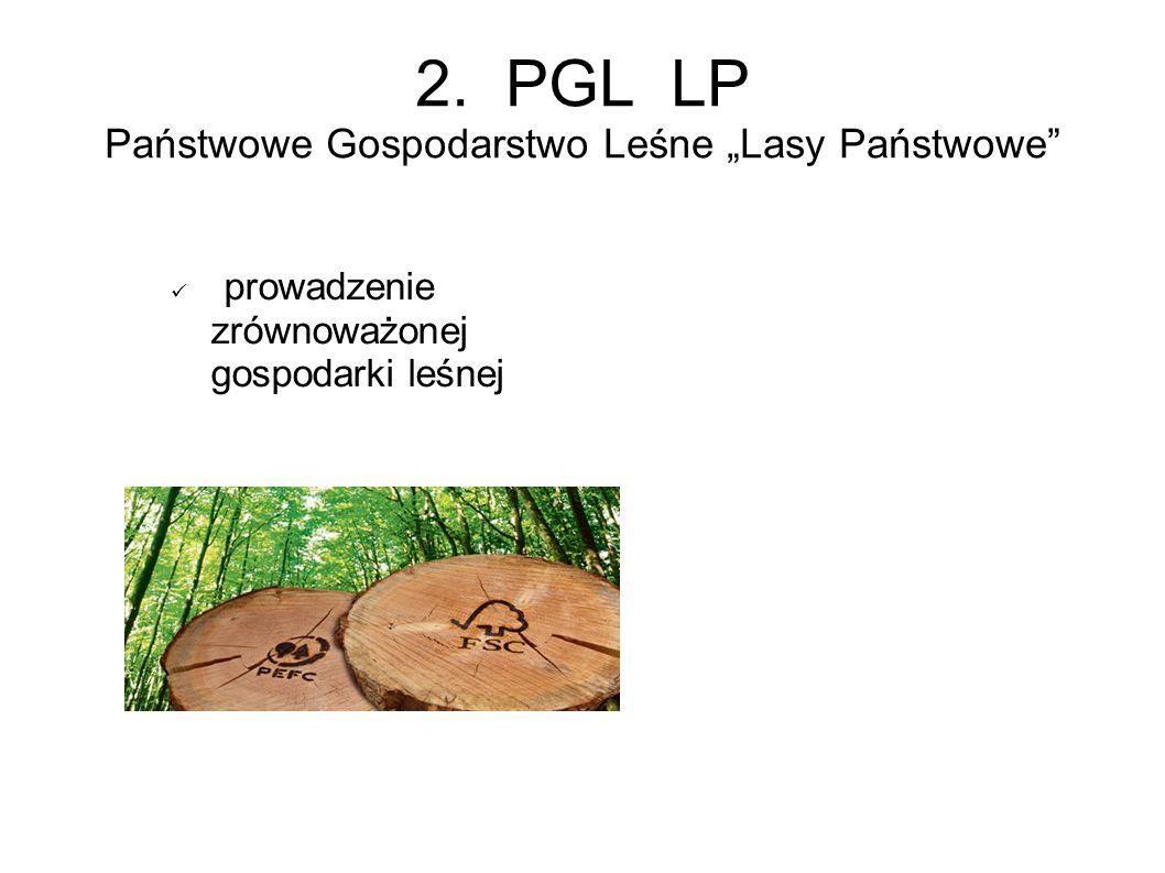 """2. PGL LP Państwowe Gospodarstwo Leśne """"Lasy Państwowe prowadzenie zrównoważonej gospodarki leśnej"""