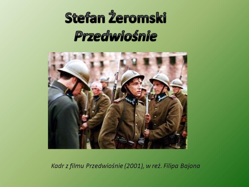 """Przedwiośnie jako okres między dwoma porami roku, zimą i wiosną Przedwiośnie jako okres najbrzydszy i najtrudniejszy Przedwiośnie jako odniesienie do sytuacji w Polsce po odzyskaniu niepodległości """"to dopiero przedwiośnie nasze… - nadzieja na szybki rozkwit ojczyzny"""