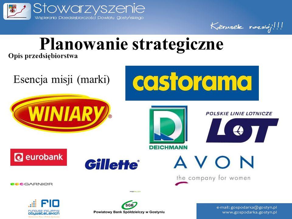 Planowanie strategiczne Esencja misji (marki) Opis przedsiębiorstwa