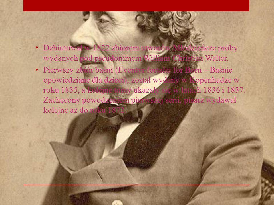 Debiutował w 1822 zbiorem utworów Młodzieńcze próby wydanych pod pseudonimem William Christian Walter.