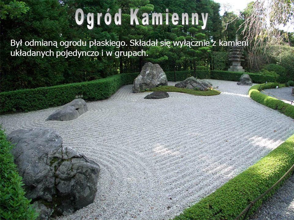 Był odmianą ogrodu płaskiego. Składał się wyłącznie z kamieni układanych pojedynczo i w grupach.