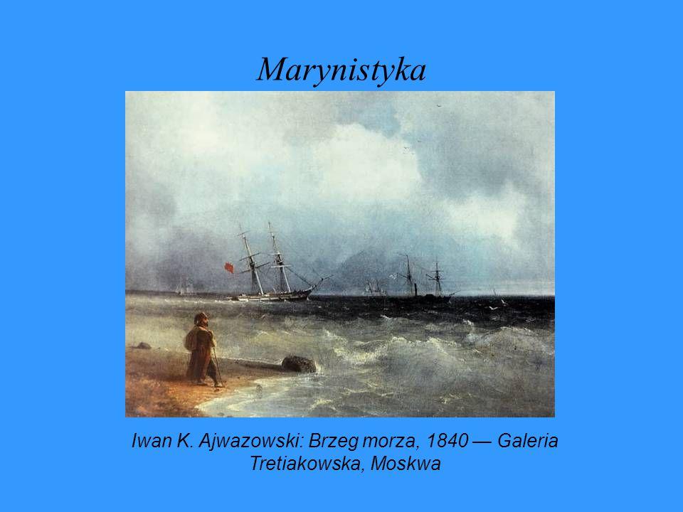 Marynistyka Iwan K. Ajwazowski: Brzeg morza, 1840 — Galeria Tretiakowska, Moskwa