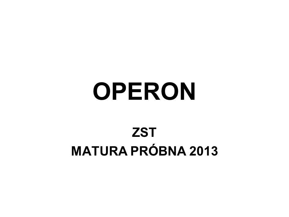 OPERON ZST MATURA PRÓBNA 2013