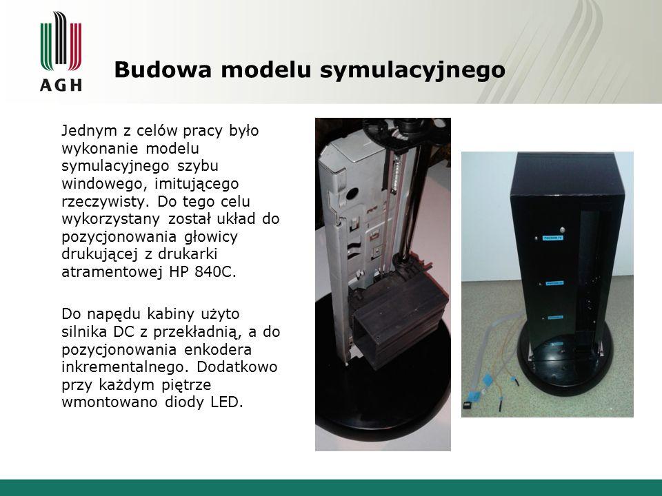 Budowa modelu symulacyjnego Jednym z celów pracy było wykonanie modelu symulacyjnego szybu windowego, imitującego rzeczywisty. Do tego celu wykorzysta