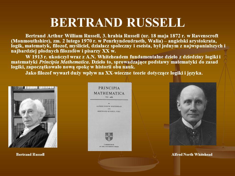 BERTRAND RUSSELL Bertrand Arthur William Russell, 3.