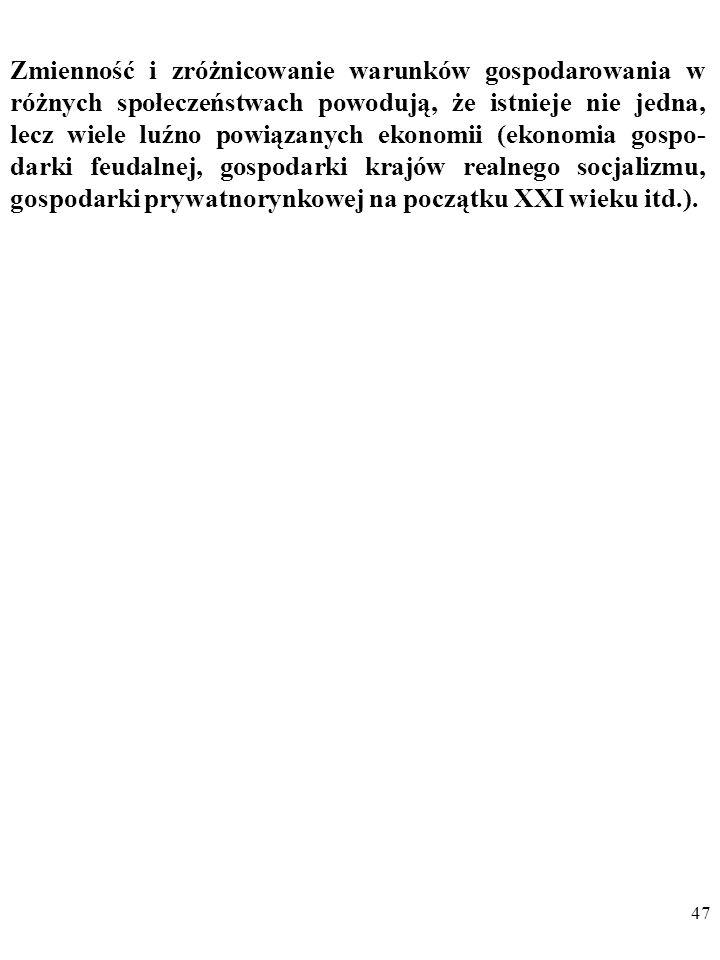 """46 DYGRESJA Przykłady innych niż prawo malejących przychodów ekono- micznych praw uniwersalnych proponował m.in. Oskar Lange (np. """"Do wyprodukowania o"""