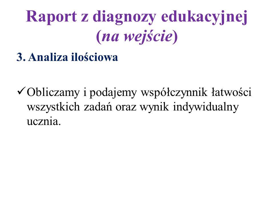 Raport z diagnozy edukacyjnej (na wejście) 4.