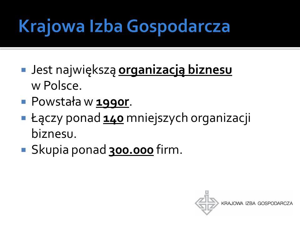  Jest największą organizacją biznesu w Polsce.  Powstała w 1990r.