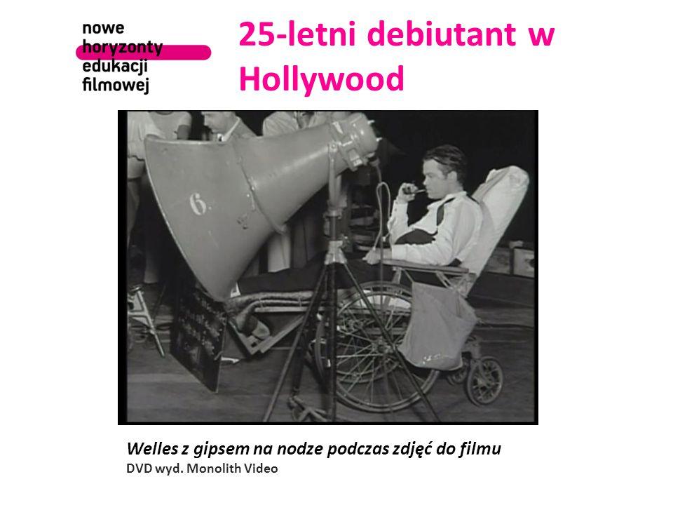 25-letni debiutant w Hollywood Welles z gipsem na nodze podczas zdjęć do filmu DVD wyd.