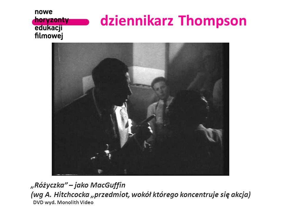 """dziennikarz Thompson """"Różyczka – jako MacGuffin (wg A."""