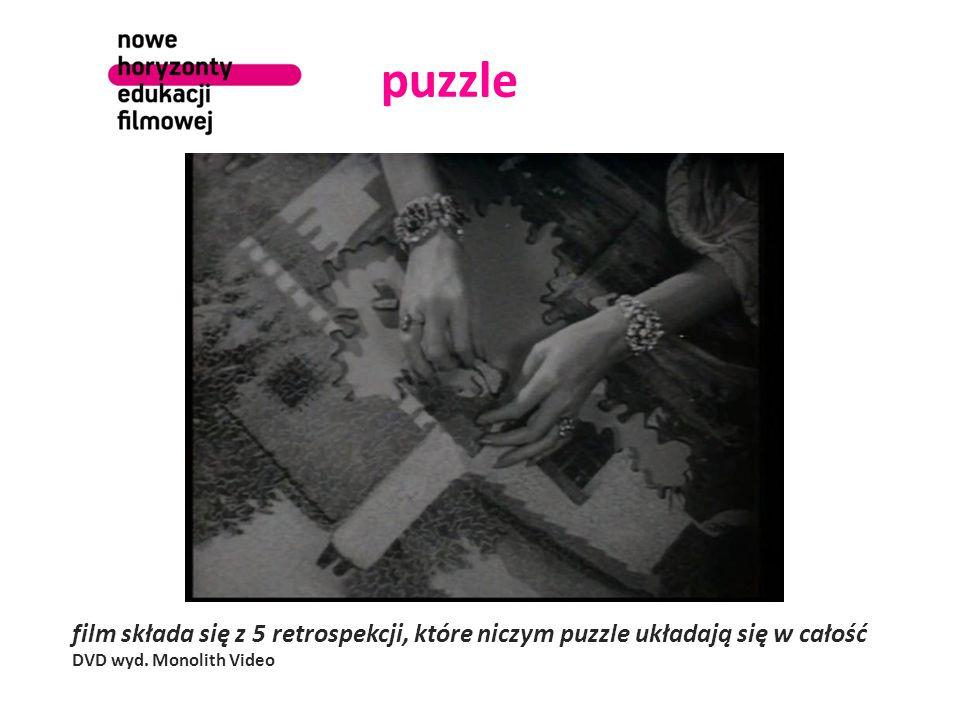 puzzle film składa się z 5 retrospekcji, które niczym puzzle układają się w całość DVD wyd.