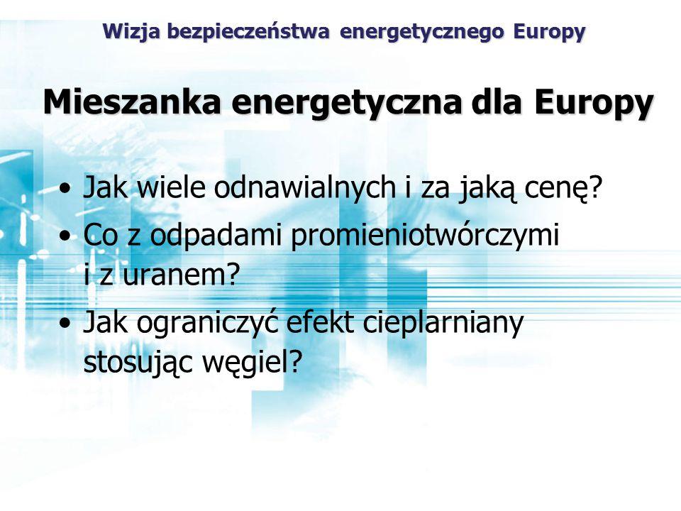 Mieszanka energetyczna dla Europy Jak wiele odnawialnych i za jaką cenę.