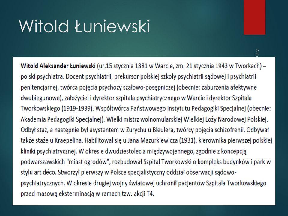 Witold Łuniewski Wikipedia 2013