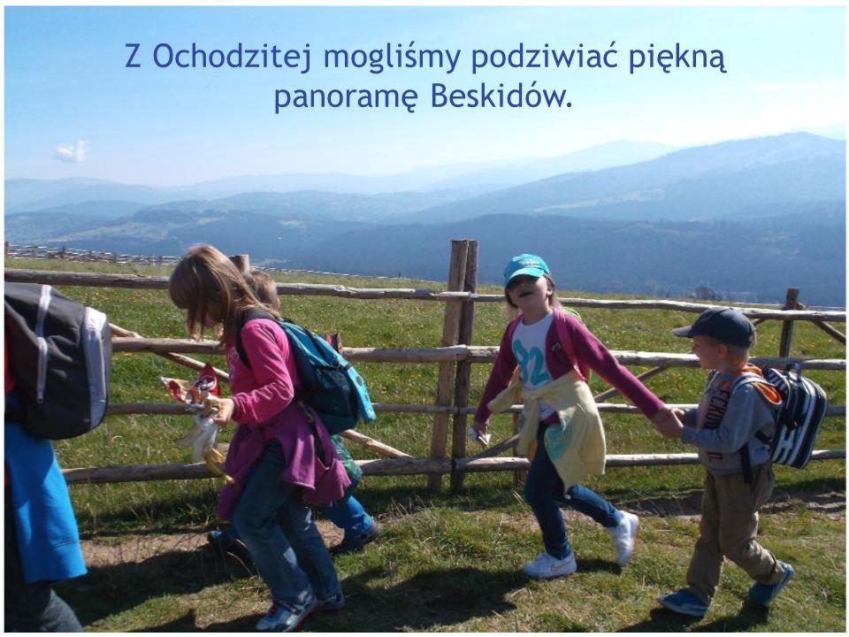 Z Ochodzitej mogliśmy podziwiać piękną panoramę Beskidów.